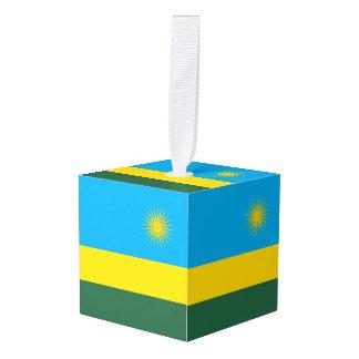 ルワンダの旗 キューブオーナメント