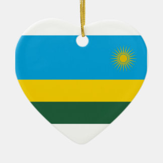 ルワンダの旗 セラミックオーナメント