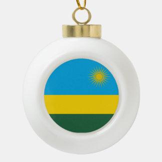 ルワンダの旗 セラミックボールオーナメント