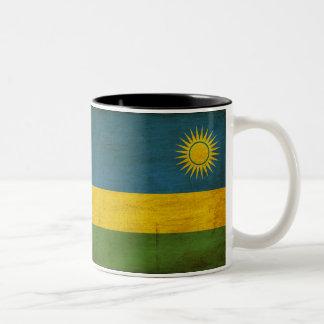 ルワンダの旗 ツートーンマグカップ