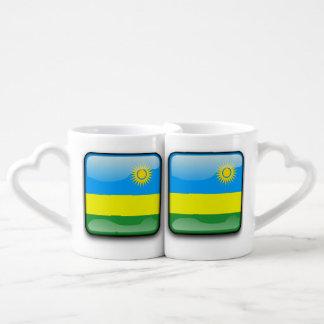 ルワンダの旗 ペアカップ
