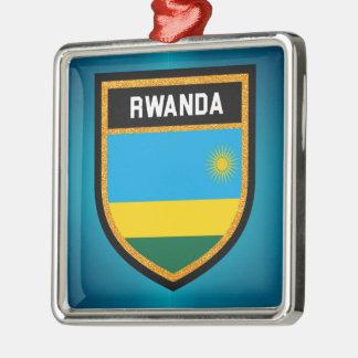 ルワンダの旗 メタルオーナメント
