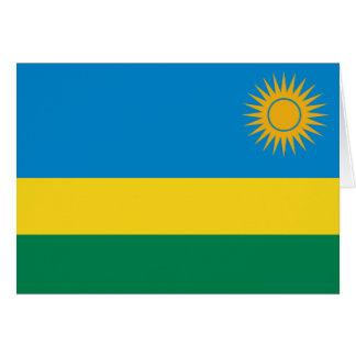 ルワンダの旗Notecard カード