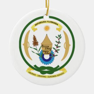 ルワンダの紋章付き外衣 セラミックオーナメント