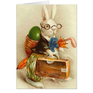 ルンペンのイースターのウサギの着色された卵のスーツケースの傘 カード