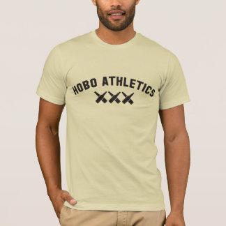 ルンペンの運動競技の黒のロゴのデザイン Tシャツ