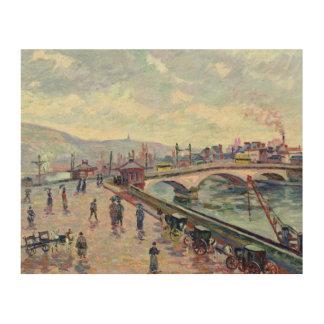 ルーアンのセーヌ河 ウッドウォールアート