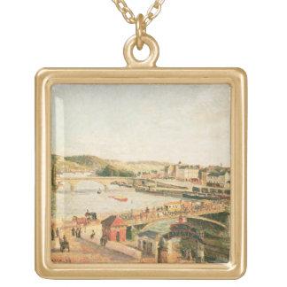 ルーアン1896年の日光(キャンバスの油) ゴールドプレートネックレス