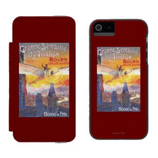 ルーアン、フランス-パイロットおよび飛行機 INCIPIO WATSON™ iPhone 5 財布 ケース