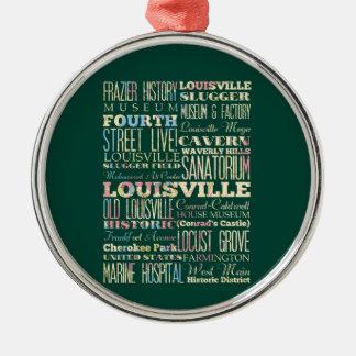 ルーイスビル、ケンタッキーの有名な場所 メタルオーナメント