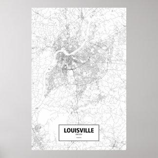 ルーイスビル、ケンタッキー(白の黒) ポスター