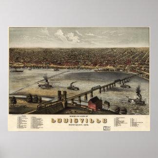 ルーイスビル、ケンタッキー- 1876年の(Ruger) BigMapBlog.com ポスター