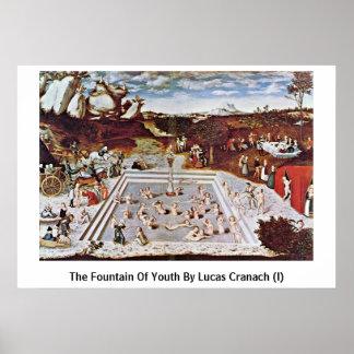 ルーカスCranach著(i)若さの源泉 ポスター