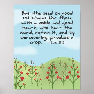 ルークの8:15 -穀物ポスターを作り出して下さい ポスター