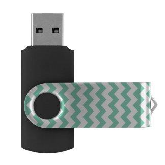 ルーサイトの白いシェブロンパターン USBフラッシュドライブ