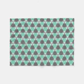 ルーサイトの緑か灰色の三角形ジンクスのフリースブランケット フリースブランケット
