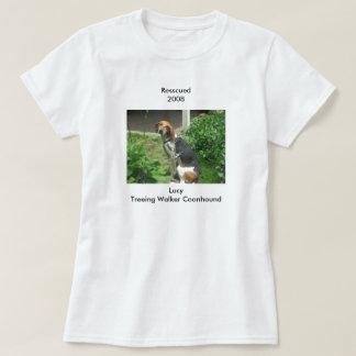 ルーシーはTreeingの歩行者のCoonhoundを救助しました Tシャツ