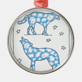 ルースI. Rubin著空のオオカミ2のポートレート メタルオーナメント