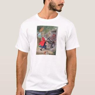 ルーズベルトくまは赤ずきんを遊びます Tシャツ