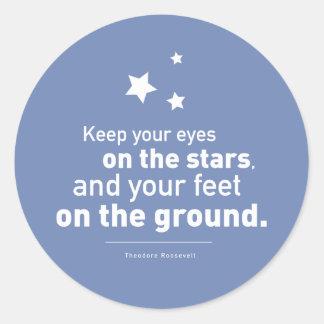 ルーズベルトの引用文の足の星20xstickersのカスタム色 ラウンドシール