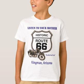 ルートはあなたの母Kingmanに66聞きます Tシャツ