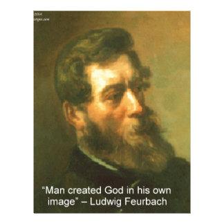 ルートビッヒFeurbach及び人によって作成される神の引用文 レターヘッド