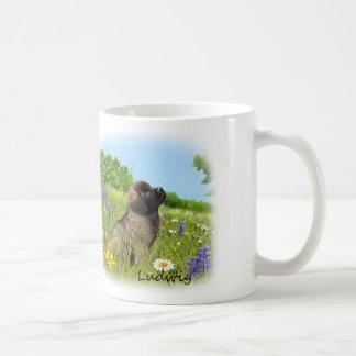 ルートビッヒLeonbergerの子犬のマグ コーヒーマグカップ