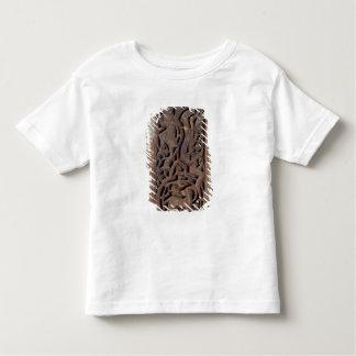 ルートプレーヤーと飾られる切り分けられたパネル トドラーTシャツ