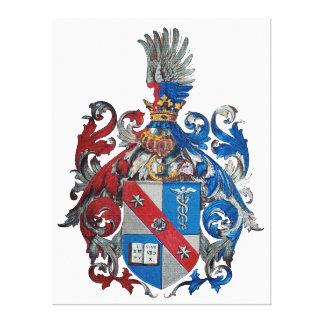ルートヴィヒ・フォン・ミーゼス家族の紋章付き外衣 キャンバスプリント