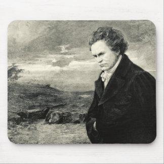 ルートヴィヒ・ヴァン・ベートーヴェンのヴィンテージのポートレートのマウスパッド マウスパッド