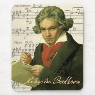 ルートヴィヒ・ヴァン・ベートーヴェンの~のベートーベンのコラージュ マウスパッド