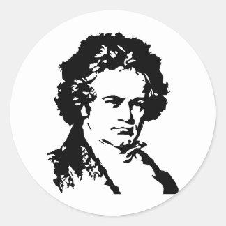 ルートヴィヒ・ヴァン・ベートーヴェン 丸形シール・ステッカー