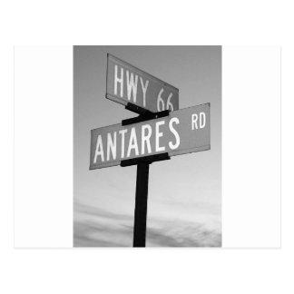 ルート66およびAntaresの道Kingman AZ ポストカード