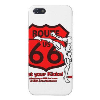 ルート66のあなたの蹴りを得て下さい! 白いnの赤 iPhone 5 カバー