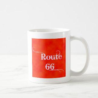 ルート66のオレンジ コーヒーマグカップ