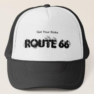 ルート66のトラック運転手の帽子 キャップ