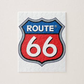 ルート66のロゴ ジグソーパズル