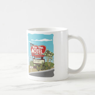 ルート66の丘の頂上のモーテル コーヒーマグカップ