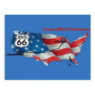 ルート66の主要なstree米国のギフト ポストカード
