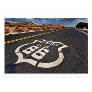 ルート66の交通標識米国旅行は改造しました ポストカード
