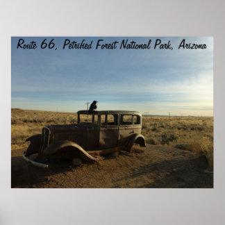ルート66の化石森林の国立公園 ポスター