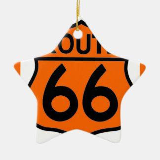 ルート66の安全オレンジはこれをカスタマイズ! セラミックオーナメント