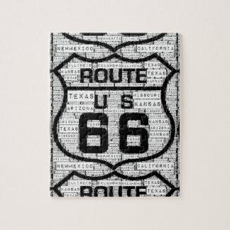 ルート66の州のパズル ジグソーパズル