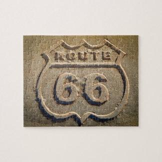 ルート66の歴史的な印、アリゾナ ジグソーパズル