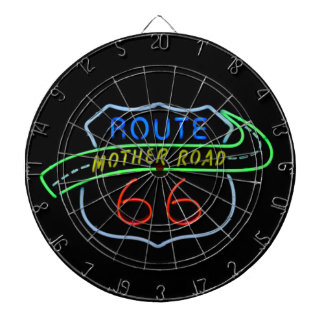 ルート66の母道、ネオンサイン ダーツボード