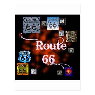 ルート66の組合せ ポストカード