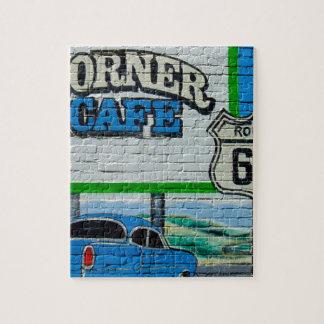 ルート66の角のカフェの壁 ジグソーパズル