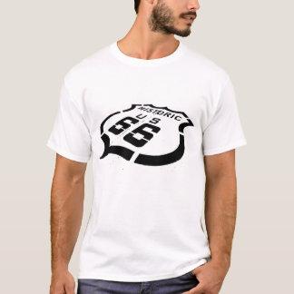 ルート66の黒いスタンプ Tシャツ