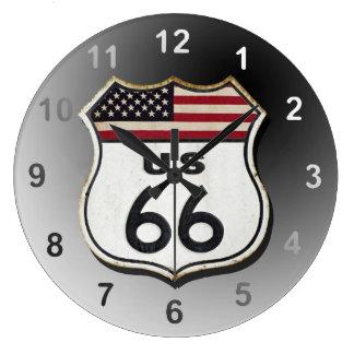 ルート66 ラージ壁時計