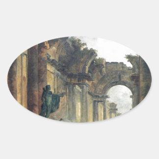 ルーバーの壮大なギャラリーの想像眺め 楕円形シール